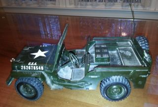 Cox Command Army Jeep for Parts Jeep or Restoration 049 Gas Powered Engine