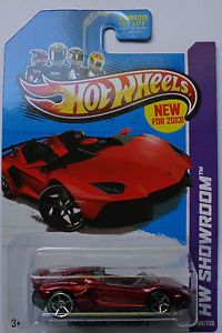 2013 Hot Wheels HW Showroom Lamborghini Aventador J Col 180 Red Version