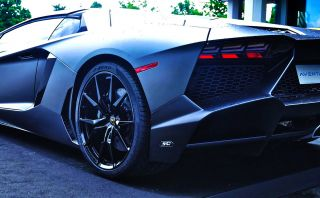 Lamborghini Aventador LP720 4 50 Anniversario Dione Forged Black Wheels Tires