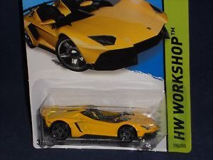 Hot Wheels 2014 HW Workshop All Stars 196 Lamborghini Aventador J Yellow PR5s