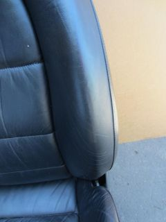 2001 Porsche 911 996 Turbo 996TT Front Black Leather Power Seats