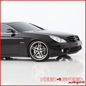 "19"" Mercedes Benz W220 S430 S500 S55 Roderick RW2 Black Staggered Wheels Rims"
