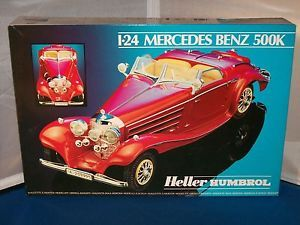 Heller Mercedes Benz 500K Car Model Kit Kits 1 24 Scale Parts SEALED