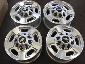 "Chevy Silverado 2500 3500 GMC Sierra Factory Alloy Wheels Rims 17"" 5500"