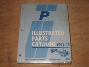 1991 92 93 Chevrolet GMC P Forward Control Van motorhome Parts Catalog Manual