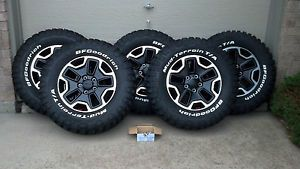 Jeep Rubicon 10th Anniversary Wheel Tire Set 5