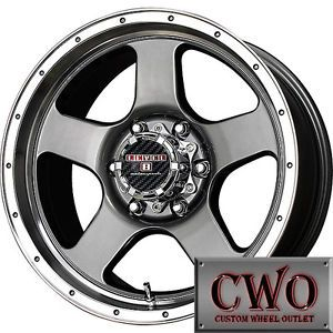 15 Gunmetal Lvl Punch Wheels Rims 5x127 0mm Offset Jeep Wrangler C 1500