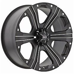 17 inch Ballistic Outlaw Black Wheels Rims 8x6 5 12 Dodge RAM 2500 Hummer H2