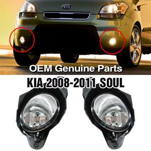 Genuine Parts Fog Light Lamp Assembly 2pcs Fit Kia 2008 2011 Soul