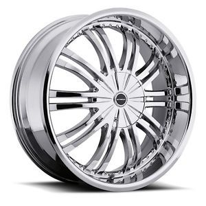 "17"" inch 5x115 5x112 Chrome Wheels Rims 5 Lug Pontiac Buick Chevy Olds 1 5"" Lip"