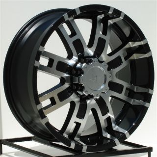 22 inch Black Wheels Rims Chevy Dodge RAM 2500 3500 8 Lug Hummer H2 8x6 5