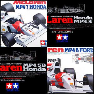 SETOF4 1 20 Tamiya McLaren MP4 4 5 7 8 Grand Prix Collection F1 Race Car Kit