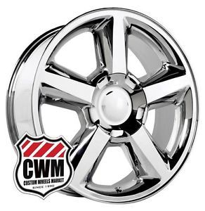 "20"" Chevy Tahoe LTZ 2007 Style Chrome Wheels Rims for Chevy Avalanche 2013"