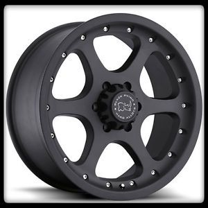 "20"" x 9"" Ocotillo Off Road Black Rhino Matte Armada Tacoma Hummer Wheels Rims"