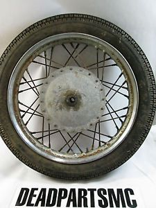 Harley K KH Hummer Ironhead 18 inch Drum Brake Spoke Wheel Rim