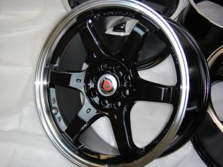 17 Black Wheel Rim galant Lancer Honda Civic Accord Prelude Acura Integra Cobalt