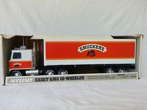 Nylint Pressed Steel Truck and Trailer Featuring Smuckers Cadet GMC 18 Wheel