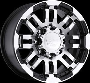 "15"" Vision Warrior Black Machined Wheels Rims 5x4 5 5x114 3 Jeep Wrangler TJ YJ"
