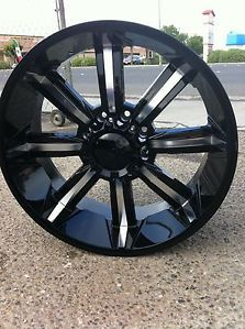 "26"" Black Wheels Tires 8x165 Hummer H1 H2 315 40 26 Tires"
