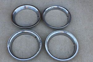 Original Pontiac Trim Rings 14 inch Rally Wheel Tempest LeMans GTO Firebird