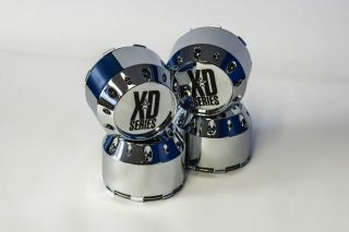 Set 4 KMC XD Series XD786 XD795 Chrome Wheel Center Cap 464K106 5x5 5 6x5 5