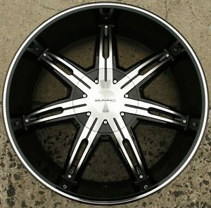 KMC Surge KM665 22 x 9 5 Black Rims Wheels Mercedes Benz GL550 5H 30