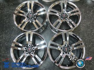 Four 08 09 Pontiac G8 Factory Chrome 18 Wheels Rims 6637 Outright 92217685