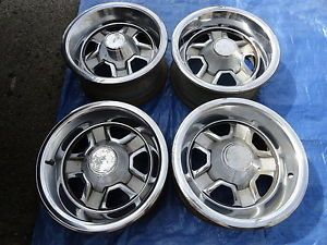 1970s 80s Oldsmobile Chrome Wheels Caps 15x 7 Set 40