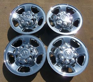 "Dodge RAM 2500 RAM 3500 17"" Chrome Clad 8 Lug Steel Wheels 2186"