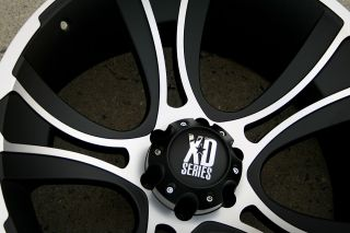 KMC XD Series Crank 801 22 x 11 0 Black Rims Wheels Land Cruiser 98 Up 5H 44
