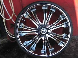 "28"" Dub Mamba New Wheel Tire Tis MOZ Lexani 26 MHT 5 or 6 Lug Escalade Tahoe"