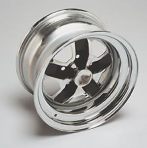 "Wheel Vintiques 58 Olds SS2 Chrome w Black Powdercoated Slot Wheel 15""X7"""