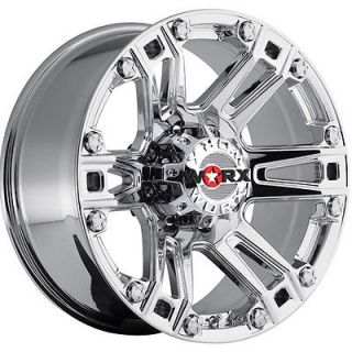 17x9 Chrome Worx Beast 803 8x170 12 Rims Nitto Terra Grappler LT285 70R17 Tires