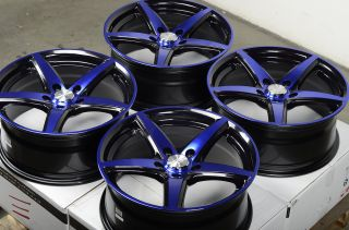 17 5x114 3 Blue Wheels Mitsubishi Diamante Eclipse galant Lancer Sienna RSX Rims
