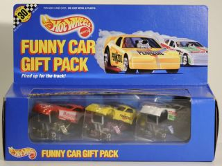 Hot Wheels 7456 Funny Car Gift Pack 3 Vehicles 1990