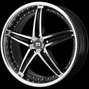 "16"" x 7"" Motegi Racing MR107 107 Black Wheels Rims 5 Lug 5x4 5 5x110 5x112 5x100"