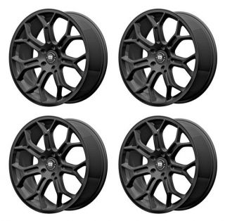 Motegi Racing MR120 MR12098512745 Rims Set of 4 19x8 5 45mm Offset 5x4 5 s Black