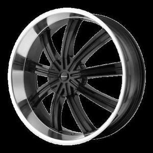 "20"" Wheels Rims KMC Widow Black MDX Escape Explorer"