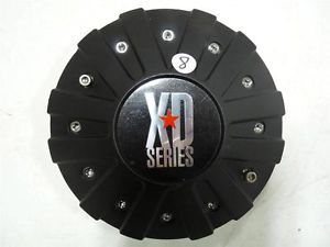 KMC XD Series Rockstar 775 Black Aftermarket Wheel Center Cap 1000775B Tall