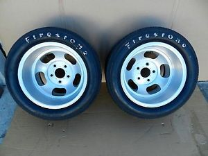 15x10 US Indy Slot Mag Wheels Rims Fit Ford Chevy Pontiac 5x5 Vintage Firestone