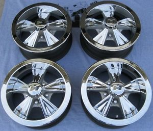 69 GM PONTIAC GTO 14X6 HURST WHEELS SET OF 4 WHEELS COMPLETE LUG NUT