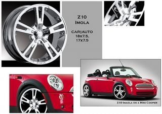 4 New 18 Zinik Imola Z10 Wheels Rims Chrome JDM VW 4x114 4x100 Civic XB Mini XA