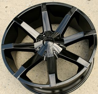 "KMC Slide 651 22"" Black Rims Wheels GMC Yukon Sierra 2WD 5x127 22 x 9 5 5H 15"