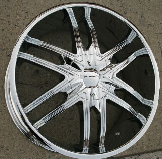 KMC Splinter KM678 22 x 9 5 Chrome Rims Wheels Ford F 150 F150 97 03 5H 15