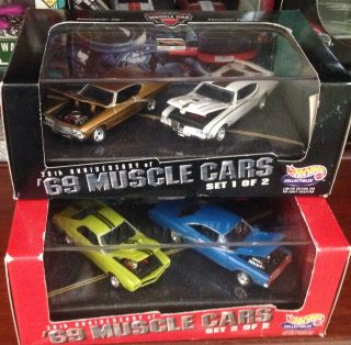 Hot Wheels '69 Muscle Cars 30th Anniv AMX Hemi GTX 69 Hurst Olds 69 Chevelle