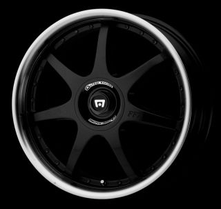 "18"" x 7 5"" Motegi Racing MR237 Black Wheels Rims 4x100 4x114 3 4 Lug 18 Inch"