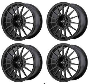 Motegi Racing MR119 MR11977012740 Rims Set of 4 17x7 40mm Offset 5x4 5 s Black