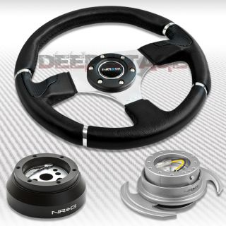 NRG Black Steering Wheel Hub Silver Gen 3 0 Quick Release Kit Camaro Corvette