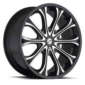 24 inch Ultra Mogul Gloss Black Wheels 5x139 7 5x5 5 15 Dodge RAM Ford Bronco