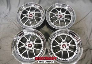 4 Used Staggered 18x8 18x10 5 114 3 5x114 3 Silver Yoshihara Wheels Rims